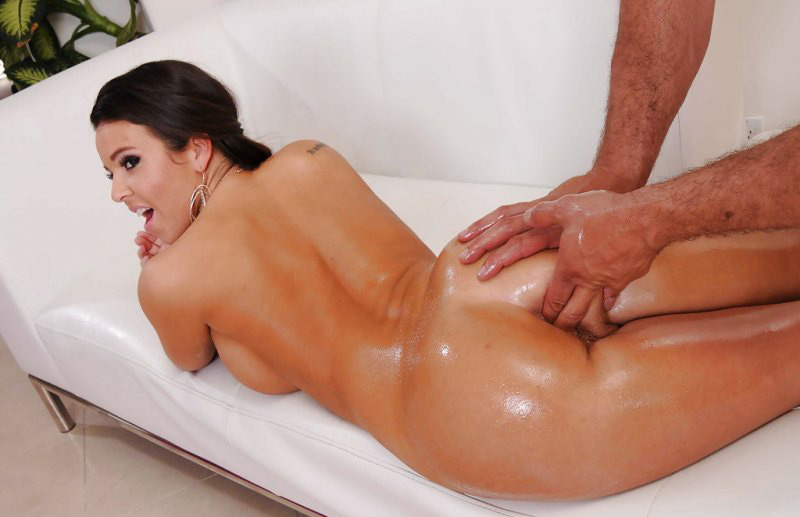 Oily brunette ass massaged asshole fingered, youngest models naked gallery