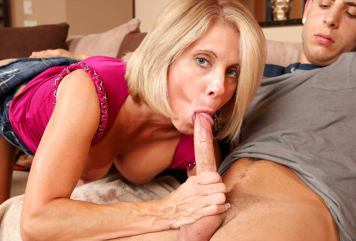 Mom sucking friends cock