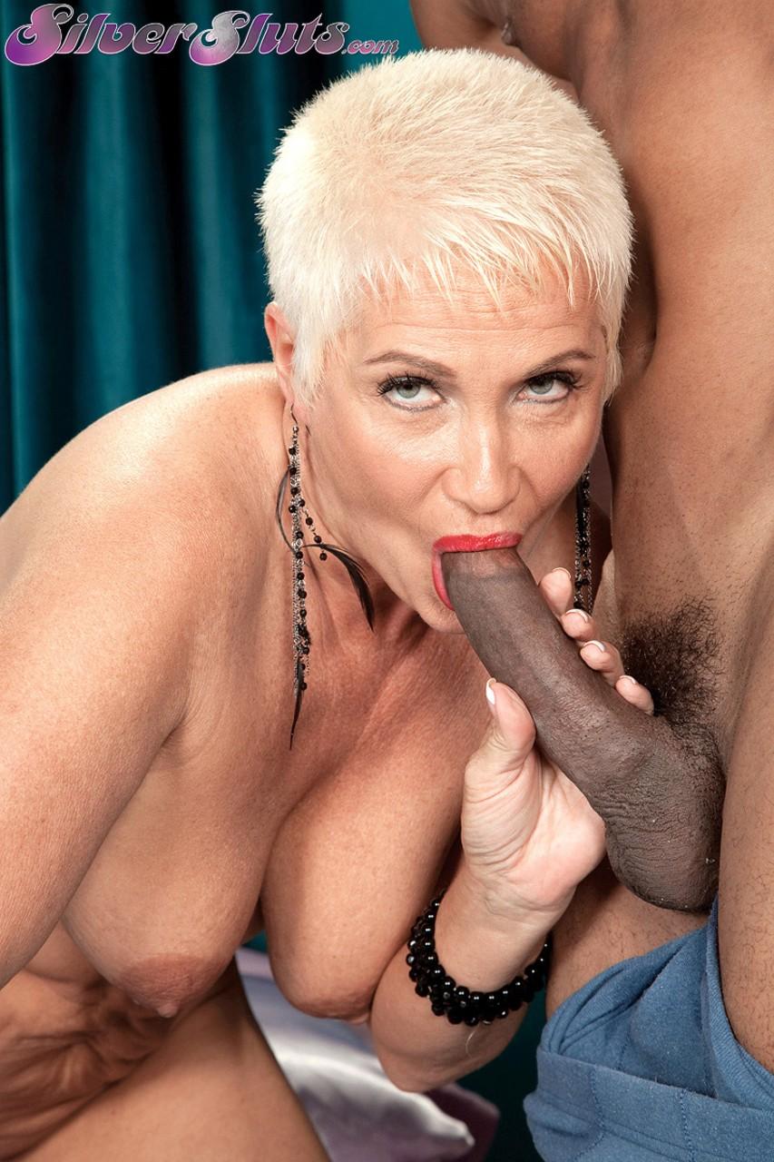 Черный мужик против пожилой блондинки. Фото - 7