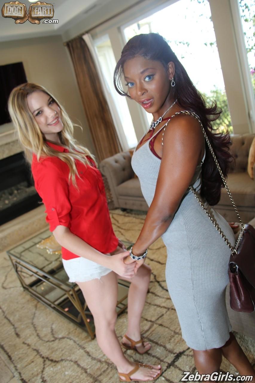 Interracial lesbian sex
