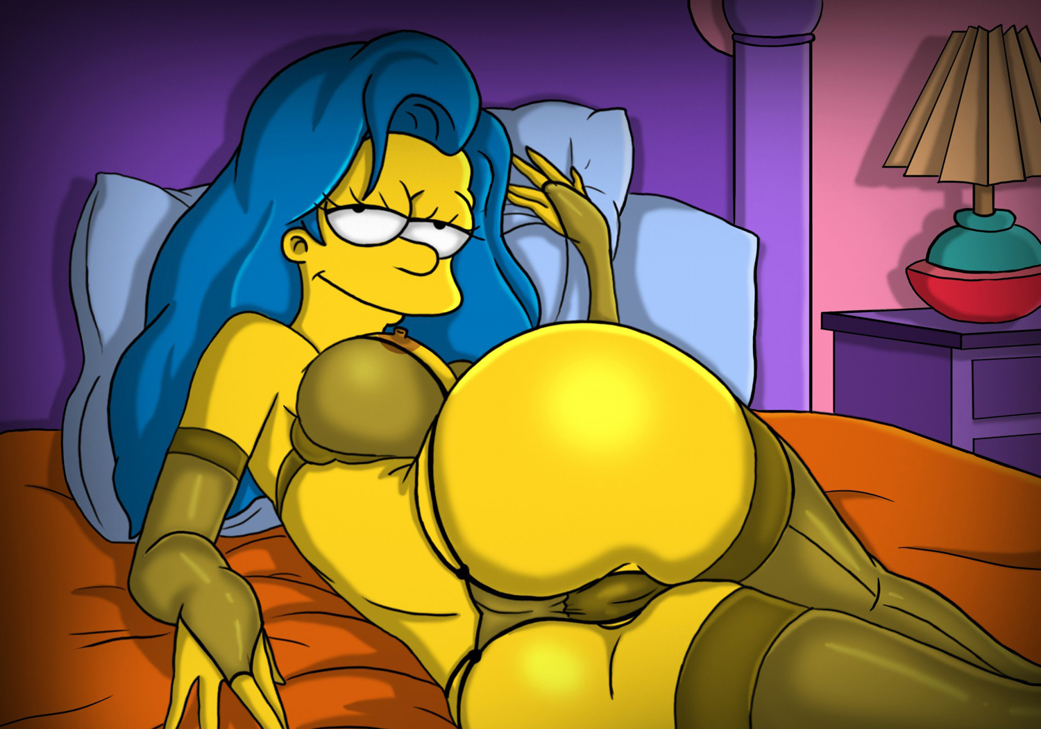 Marge Simpson nude photo shoot. Gallery - 2
